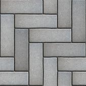 foto of paving  - Gray Paving Slabs as Parquet - JPG
