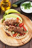 stock photo of souvlaki  - Souvlaki or kebab - JPG