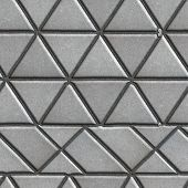 picture of paving  - Grey Pave Slabs in the Form of Triangles and Other Geometric Shapes - JPG