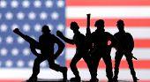 stock photo of trooper  - american soldier - JPG