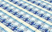 stock photo of dirham  - Moroccan dirhams bills stacks background - JPG