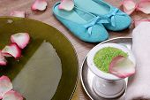 picture of pedicure  - Spa bowl with water - JPG