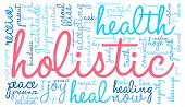 foto of holistic  - Holistic word cloud on a white background - JPG