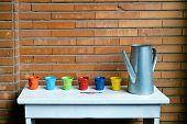 picture of flower pots  - watering - JPG