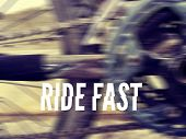 foto of bicycle gear  - Photograph of a bicycle stars gears and chain with the words - JPG