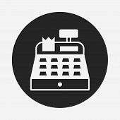 pic of cash register  - Cash Register Icon - JPG