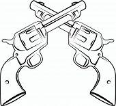 picture of sub-machine-gun  - crossed pistols - JPG