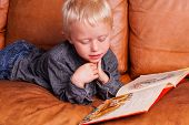 stock photo of storytime  - Child with Book - JPG