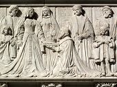 image of supreme court  - Coronation of a queen from the frieze of the Supreme Court - JPG