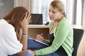 picture of counseling  - Young Woman Having Counselling Session - JPG