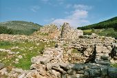 image of nuragi  - anciet nuraghe at west coast of sardinia - JPG