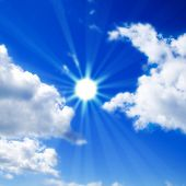 foto of sun rays  - Rays from the sun - JPG
