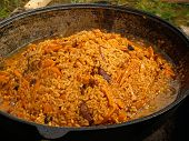 Outdoor Picnic Pilau On The Fire poster