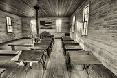Interior Of The Historic One-room School In Dothan, Alabama poster