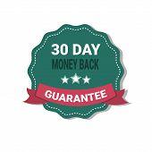 Money Back Medal Guarantee 30 Days Label Isolatedillustration poster