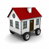 image of travel trailer  - Stylized motorhome on a white background - JPG