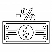 Pay Tax Icon. Outline Illustration Of Pay Tax Vector Icon For Web poster