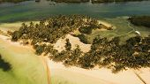 Aerial View Of Tropical Beach On The Island Siargao, Philippines. Beautiful Tropical Island With San poster