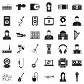 Piece Of Music Icons Set. Simple Set Of 36 Piece Of Music Vector Icons For Web Isolated On White Bac poster