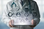 Doctor With Medical Healthcare Icon Interface poster