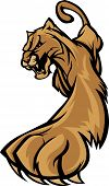 stock photo of cougar  - Graphic Mascot Image of a Prowling Cougar Body - JPG