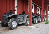 Three Atvs Outdoor