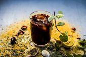Mixed Fruit Juice/shrabat With Ingredients Like Lemon,lemon Juice, Mint Leaves, Orange Juice, Etc In poster