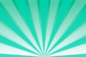 Green Sky With Rays. Abstract Background With Sunrays, Sun, Sunbeams, Beams, Dawn, Sunrise. Retro Ba poster
