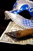 Prostitution Concept Which Is Reflected In Photo By Using  A Luxury Cigar, Money, Condoms And Seduct poster