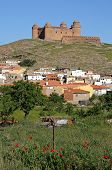 View Of The Castle On The Hilltop With Town Buildings In The Foreground, La Calahorra, Granada Provi poster