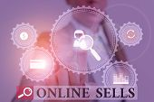 Handwriting Text Writing Online Sells. Concept Meaning Sellers Directly Sell Goods Or Services Over  poster