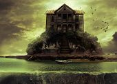 pic of abandoned house  - Haunted house on a unknown small island - JPG