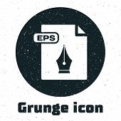 Grunge Eps File Document. Download Eps Button Icon Isolated On White Background. Eps File Symbol. Ve poster