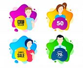 Summer Sale. People Shape Offer Badge. Special Offer Price Sign. Advertising Discounts Symbol. Dynam poster