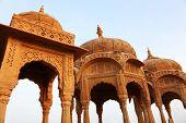pic of crematory  - Bada Bagh Cenotaph in Jaisalmer - JPG