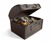 stock photo of treasure chest  - Treasure chest - JPG