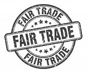 Fair Trade Stamp. Fair Trade Round Grunge Sign. Fair Trade poster