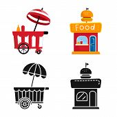 Vector Illustration Of Amusement And Store Logo. Collection Of Amusement And Urban Stock Vector Illu poster