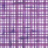 Watercolor Stripe Plaid Seamless Pattern. Colorful Purple Pink Stripes On White Background. Watercol poster