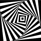 Optical Art. Geomrtric Black And White Abstract Illusion. Vector. poster