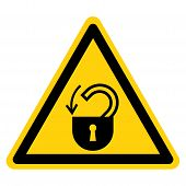 Warning Insert Safety Lock Symbol Sign,vector Illustration, Isolated On White Background Label. Eps1 poster