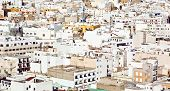 picture of urbanisation  - aerial of white houses in Arrecife lanzarote - JPG