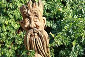 Wooden Pagan God In The Summer Park poster