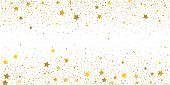 Golden Glitter Confetti. Light Backdrop. White Abstract Texture. Vector Abstract Graphic Design. New poster
