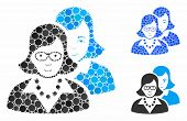 Clever Women Composition Of Spheric Dots In Different Sizes And Color Tones, Based On Clever Women I poster