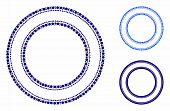 Double Circle Frame Composition Of Circle Elements In Different Sizes And Color Tones, Based On Doub poster