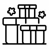Bonus Gift Box Icon. Outline Bonus Gift Box Vector Icon For Web Design Isolated On White Background poster
