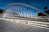 stock photo of calatrava  - Bridge in the city of Ondarroa Bizkaia Spain - JPG