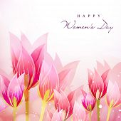 Happy Women's Day background with tulip flowers.