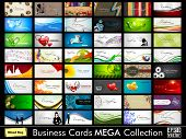 foto of visitation  - Abstract professional and designer business card template or visiting card set - JPG